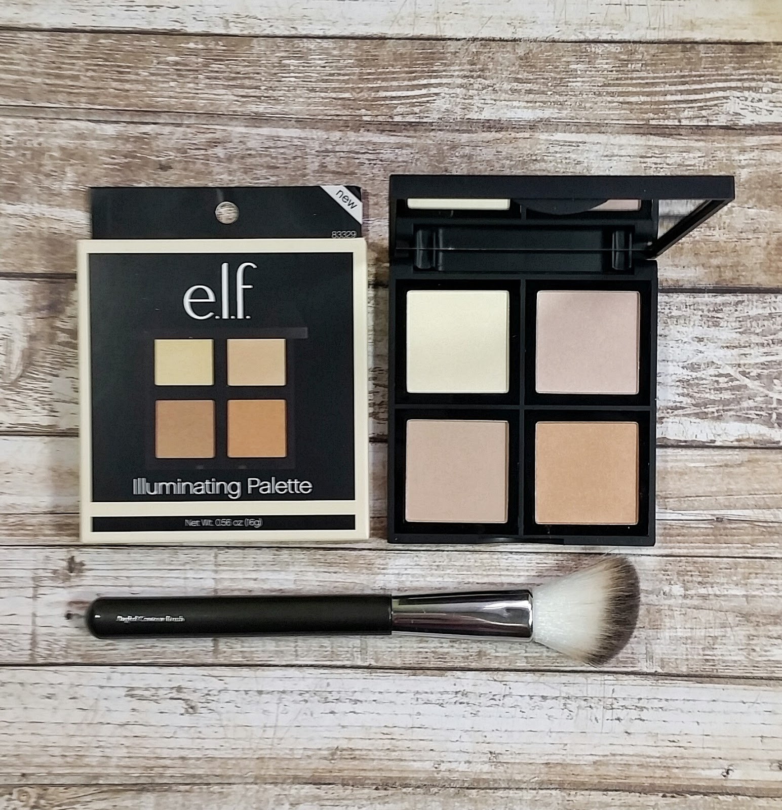 Elf Illuminating Palette Review Swatches