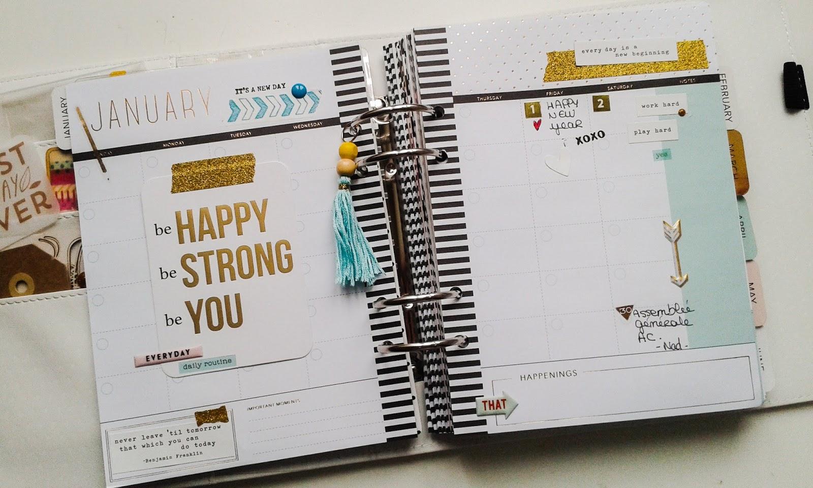 Assez Dossier : débuter son Memory Planner! | monbricascrap SB39