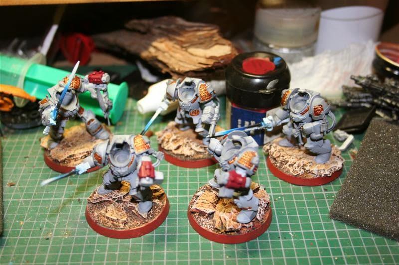 Bólteres de asalto de los caballeros grises con Scab Red de Games Workshop