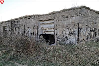 Амбразура второго артиллерийского ДОТ-а