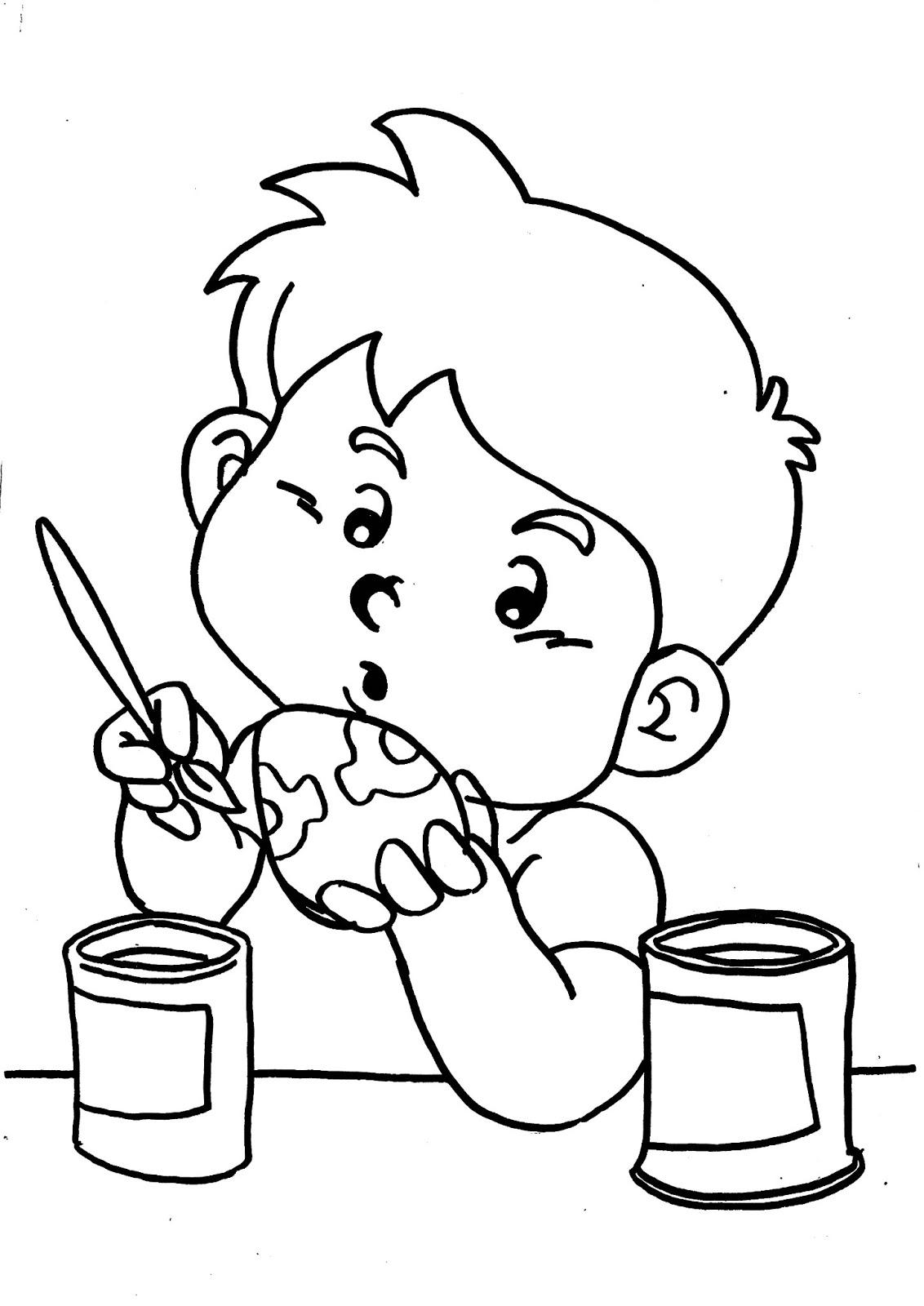 COLOREA TUS DIBUJOS: Dibujo de como decorar un huevo de pascua para ...