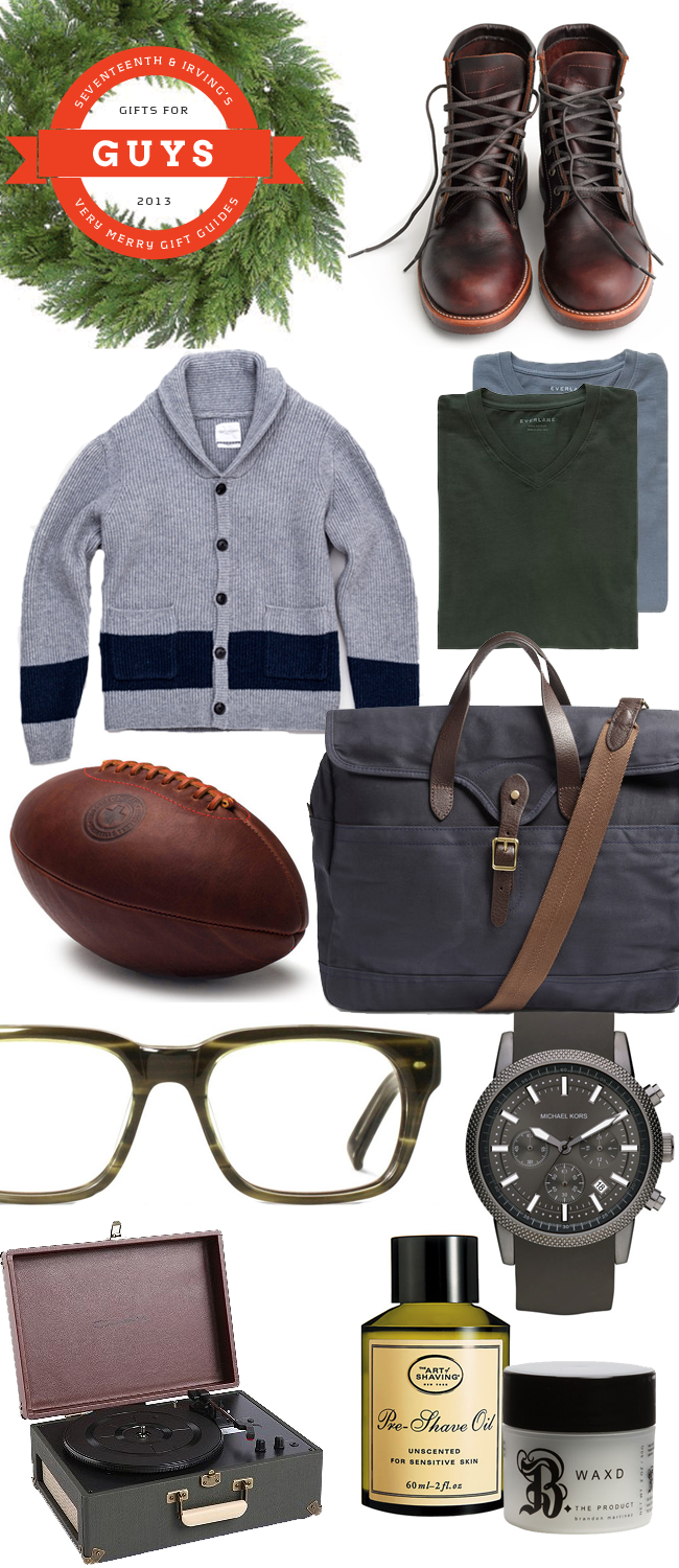 Seventeenth & Irving's Very Merry Holiday Gift Guide for Guys 2013