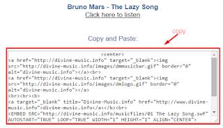 Cara Memasang dan Memasukan Lagu di Blog