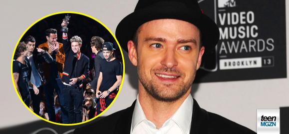 Pop müziğin prensi olarak gösterilen Justin Timberlake, dünya'yı kasıp kavuran gençlerin yeni gözdesi One Direction grubu ile çalışmak istediği açıkladı