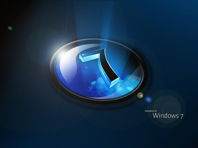Free Download Windows 7 Black HD Wallpaper 1024x768