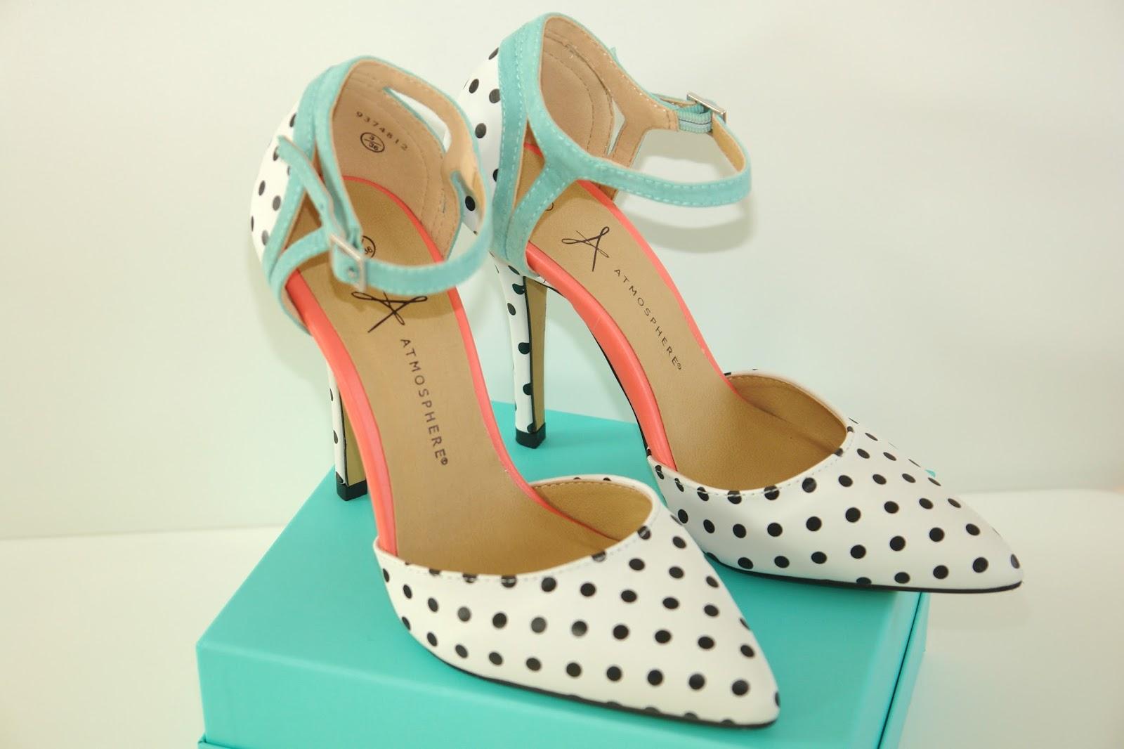 New perfect Primark heels for summer, 2014, heel, minted, neon, Primark, shoes, polka-dots, cute shoes, heels