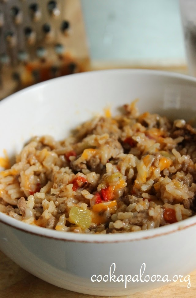 Spicy Beef Stove-Top Casserole: Easy ground beef and rice recipe for a weeknight dinner