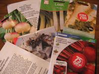 seeds...The roots.....carrot (Mokum Hybrid), Beetroot (Boltardy), Parsnip (White Gem), Celeriac (monarch), Leek (Autumn king), Swede (Brorar) and Turnips (Purple Top Milan)