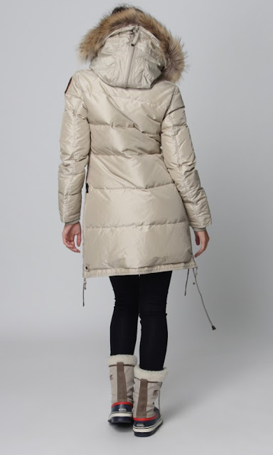 parajumpers long bear coat svart kvinna