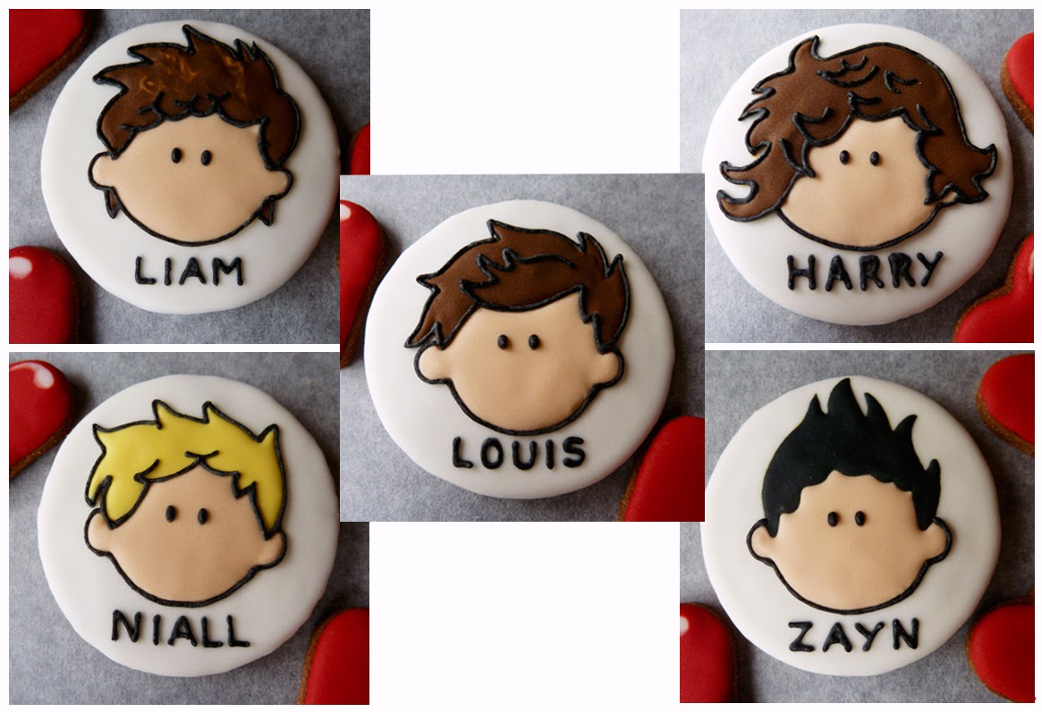 One Direction Band Cookies