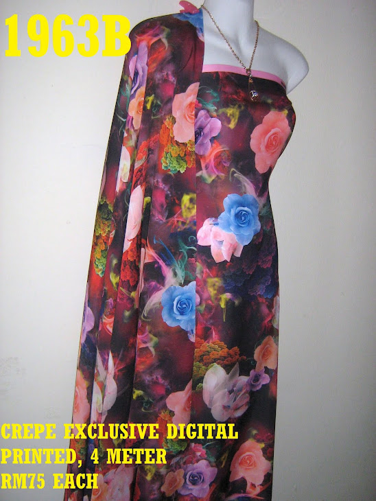 CDP 1963B: CREPE EXCLUSIVE DIGITAL PRINTED, 4 METER