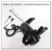 Battery Pack Bracket - Extended Monopod Version - 2 Battery Packs Attached