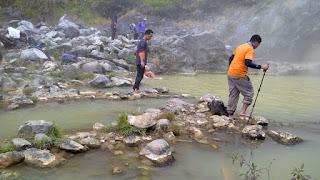 Rinjani lake and hot springs