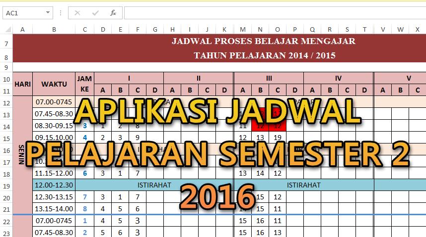 Aplikasi Jadwal Pelajaran Semester 2 2015 2016 Guru Keguruan