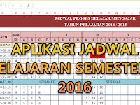 Aplikasi Jadwal pelajaran semester 2 2015/2016