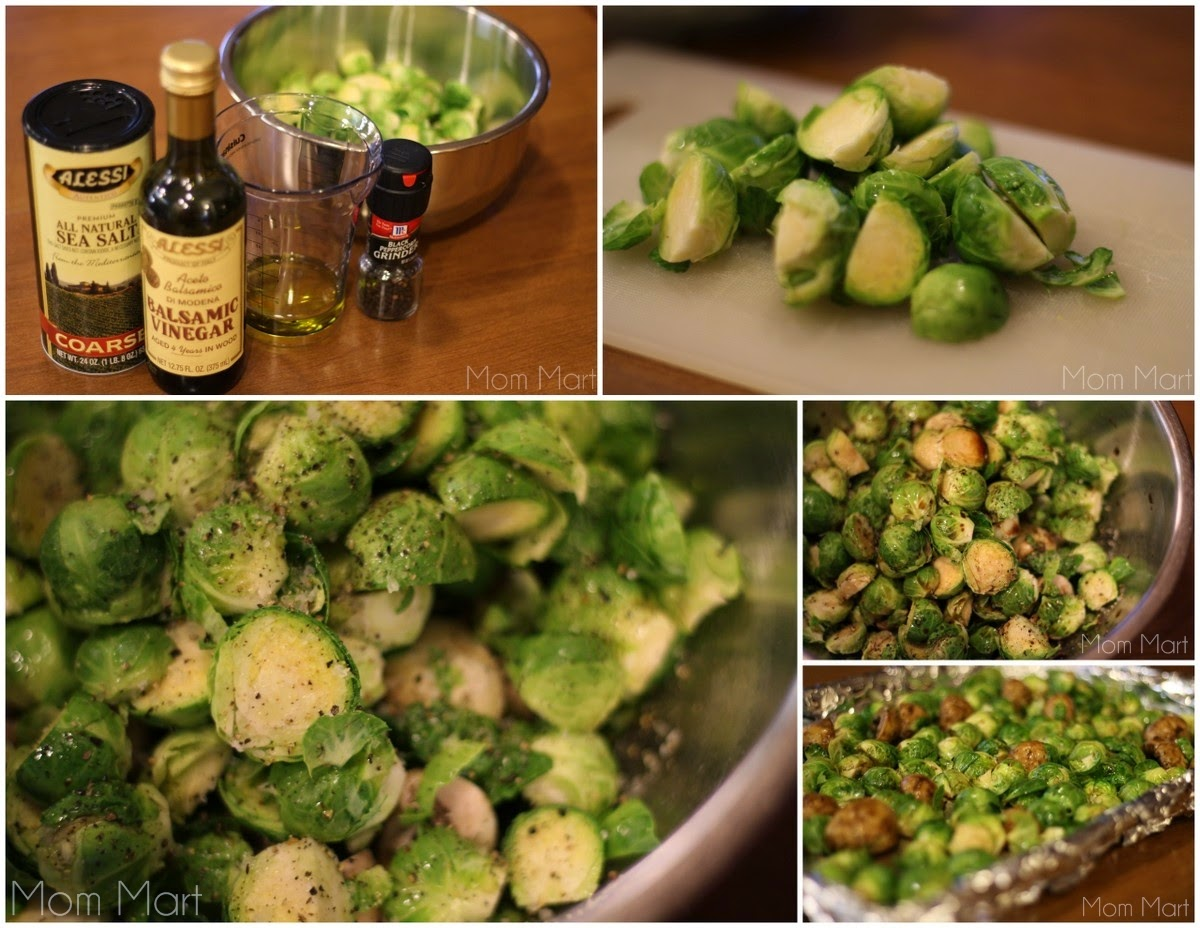 balsamic roasted brussels sprout #recipe #tutorial