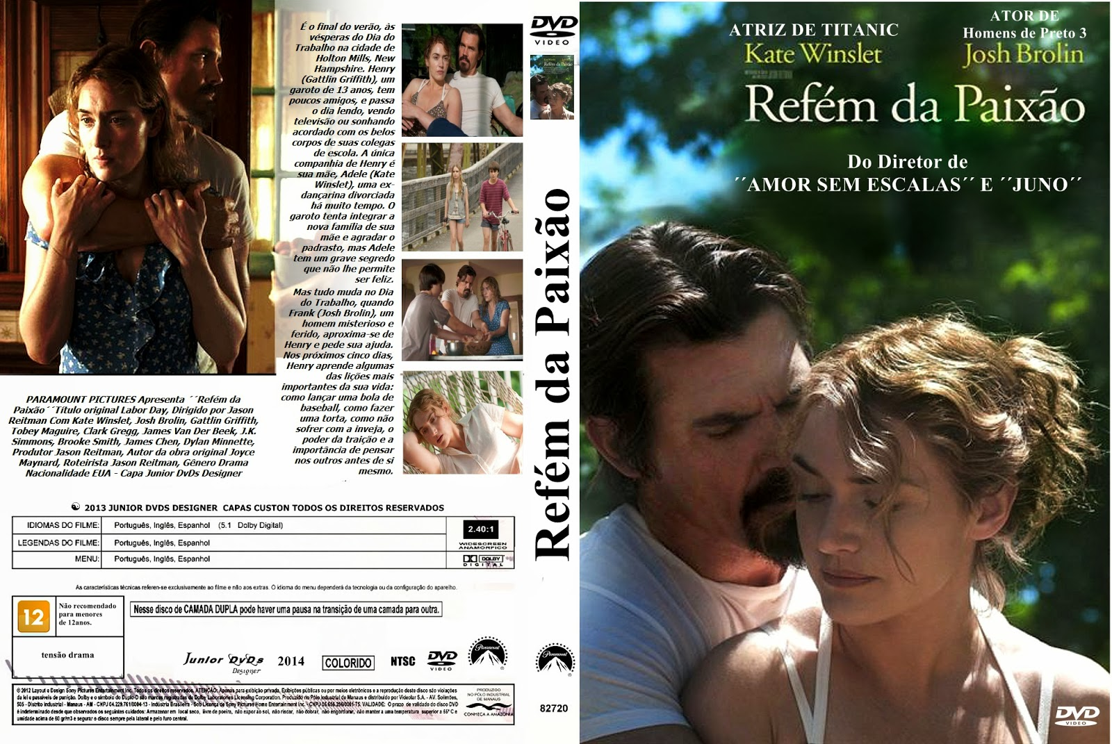 Refém da Paixão BDRip XviD Dual Áudio CAPA DO FILME REF C3 89M DA PAIX C3 83O    JUNIOR DVDS DESIGNER