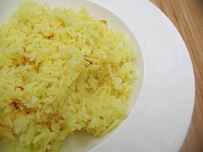 Sublime Saffron Rice with Cardamon