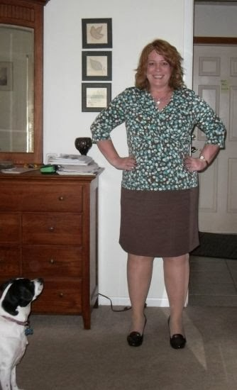 Self-drafted (term used loosely) skirt which was created from the