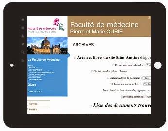 Cours de medecine en ligne faculte pierre marie curie saint antoine