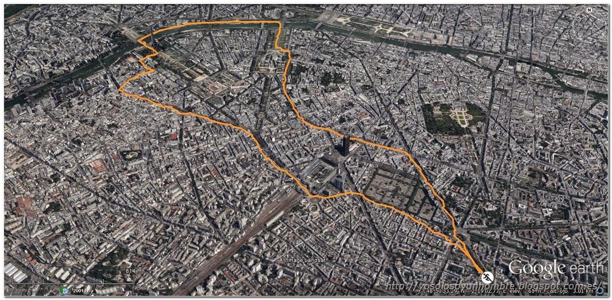 plano de la ruta running 1 por Paris