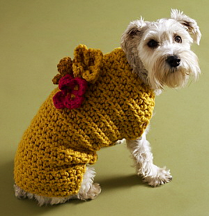 Knitting Pattern Dog Jacket : Miss Julias Patterns: Free Patterns - 20+ Dog Sweater Coats to Knit &...