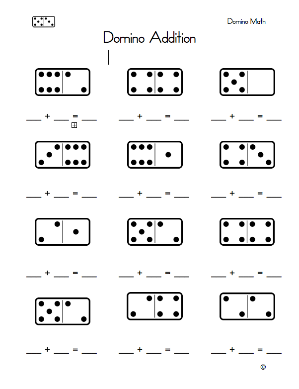 math worksheet : domino math worksheet free  educational math activities : Domino Math Worksheets First Grade
