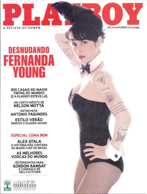 Confira as fotos de  Fernanda Young, capa da Playboy de novembro de 2009!