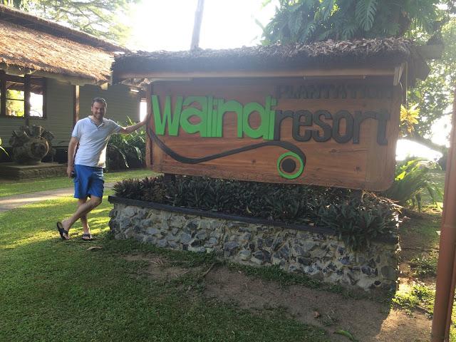 Simon outside Walindi Plantation Resort, Kimbe Bay, Papua New Guinea
