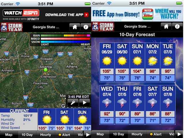 Featured Top 10 Weather Widget Apps for Android