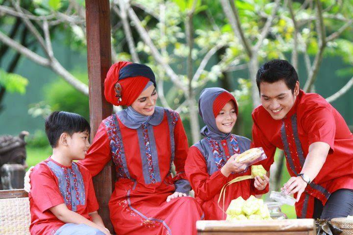 Baju muslim sarimbit lebaran trendy dan modis