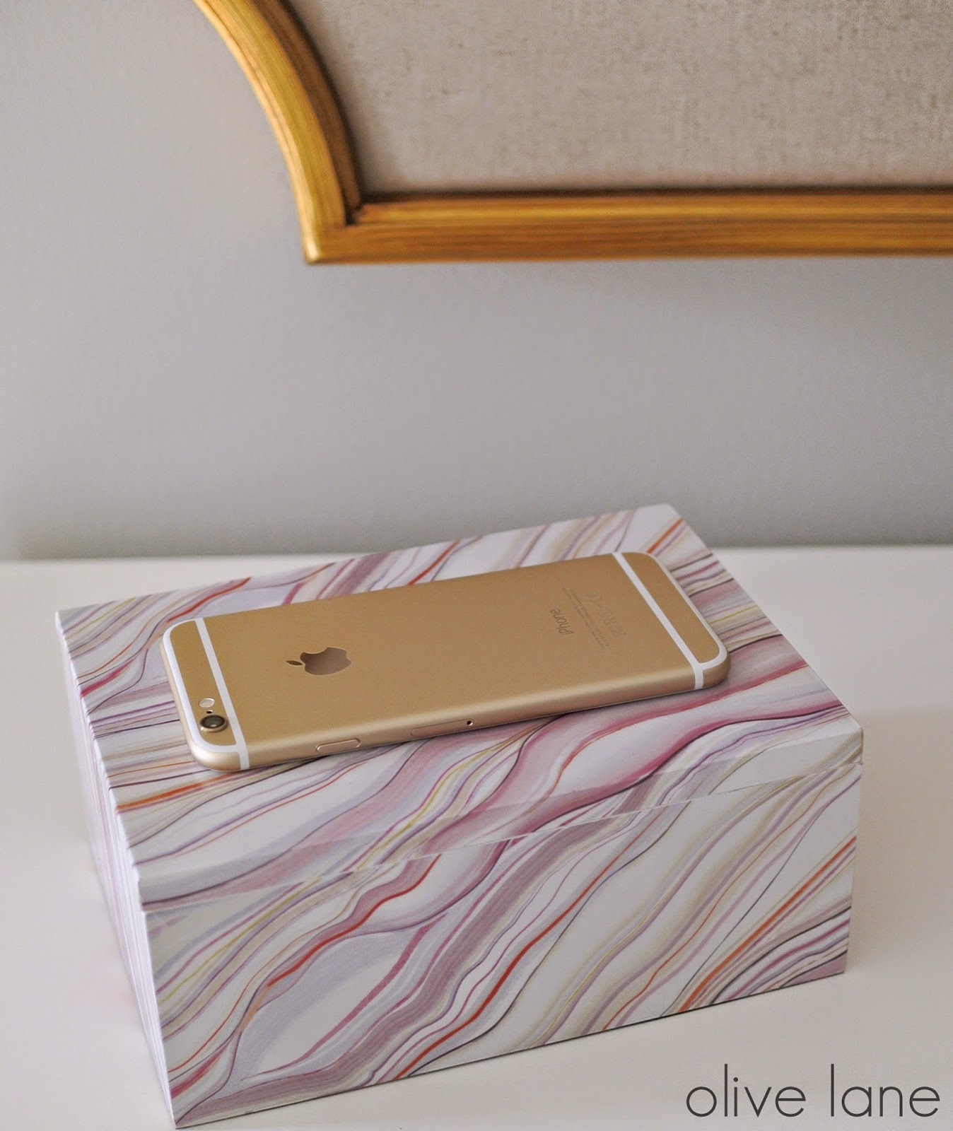 Agate Box and Gold iPhone www.olivelaneinteriors.com