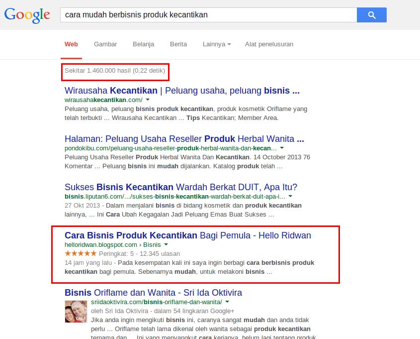 Cara Membuat Artikel Blog Rangking 1 di Google