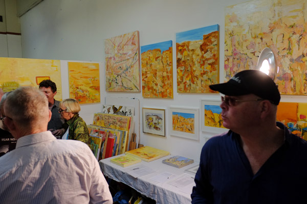 Artists Studio, Landscape Paintings, Lennox Street Studios Art Fair 2012
