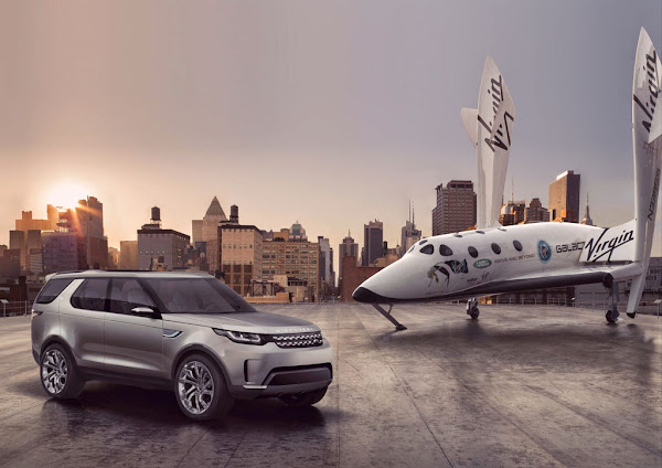 Discovery Vision Concept Land Rover SpaceShipTwo Virgin Galactic