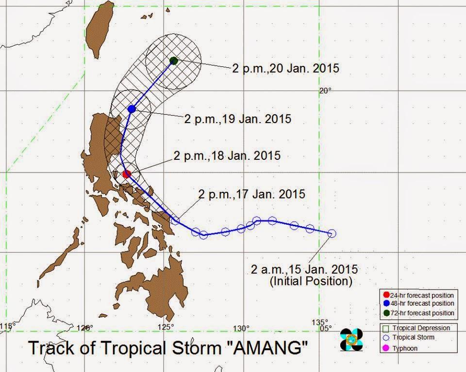 Typhoon Amang track