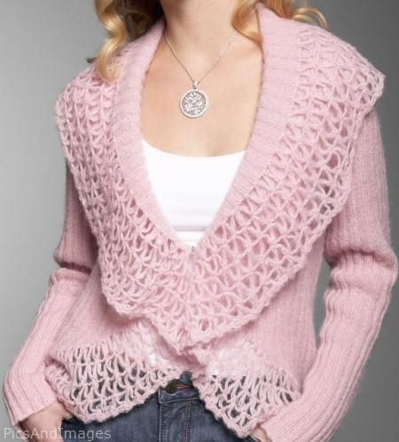 Free Knitting Pattern - Bolero Jacket knit with fringed RAVE