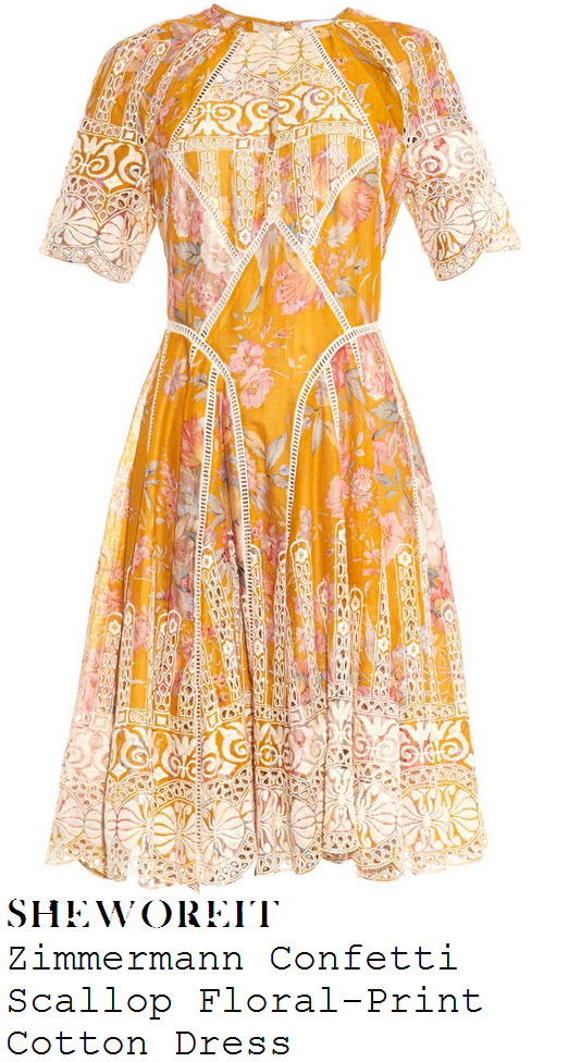 fearne-cotton-yellow-cream-floral-broderie-anglaise-dress-tesco-mum-of-the-year