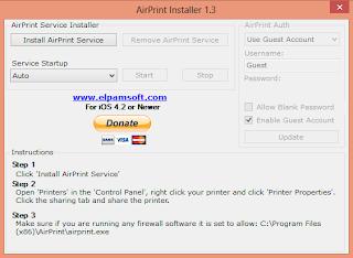 Окно AirPrint Installer