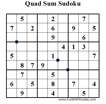 Quad Sum Sudoku (Daily Sudoku League #35)