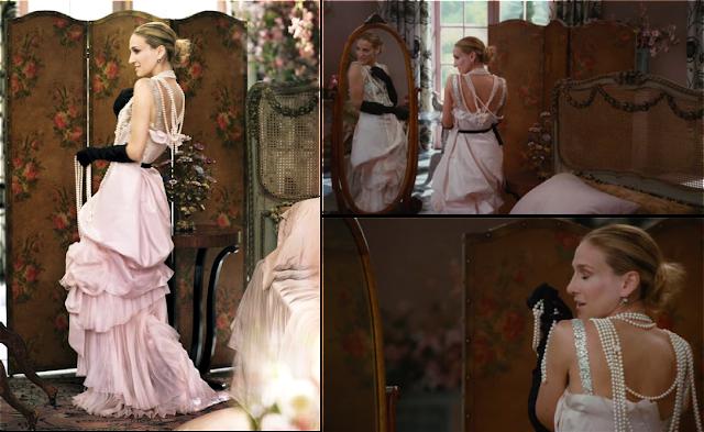 Carrie Bradshaw vestida de novia por Christian Lacroix