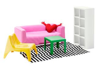 mobles ikea per nens, taula lack, klippan, coixí en forma de cor