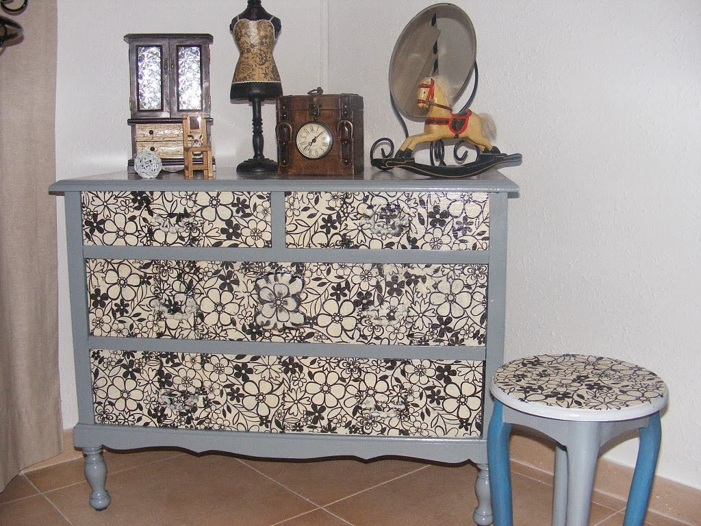 Santa clara artesanato decoupage em m veis for Tunear muebles