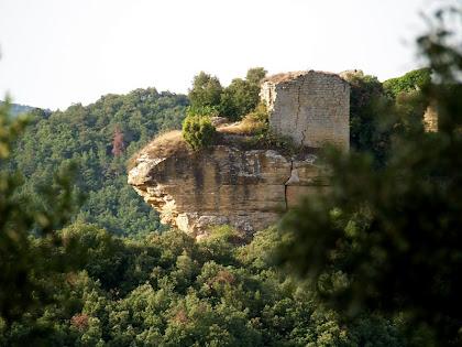 La popa del Castell de Castellcir des del Casalot del Castell
