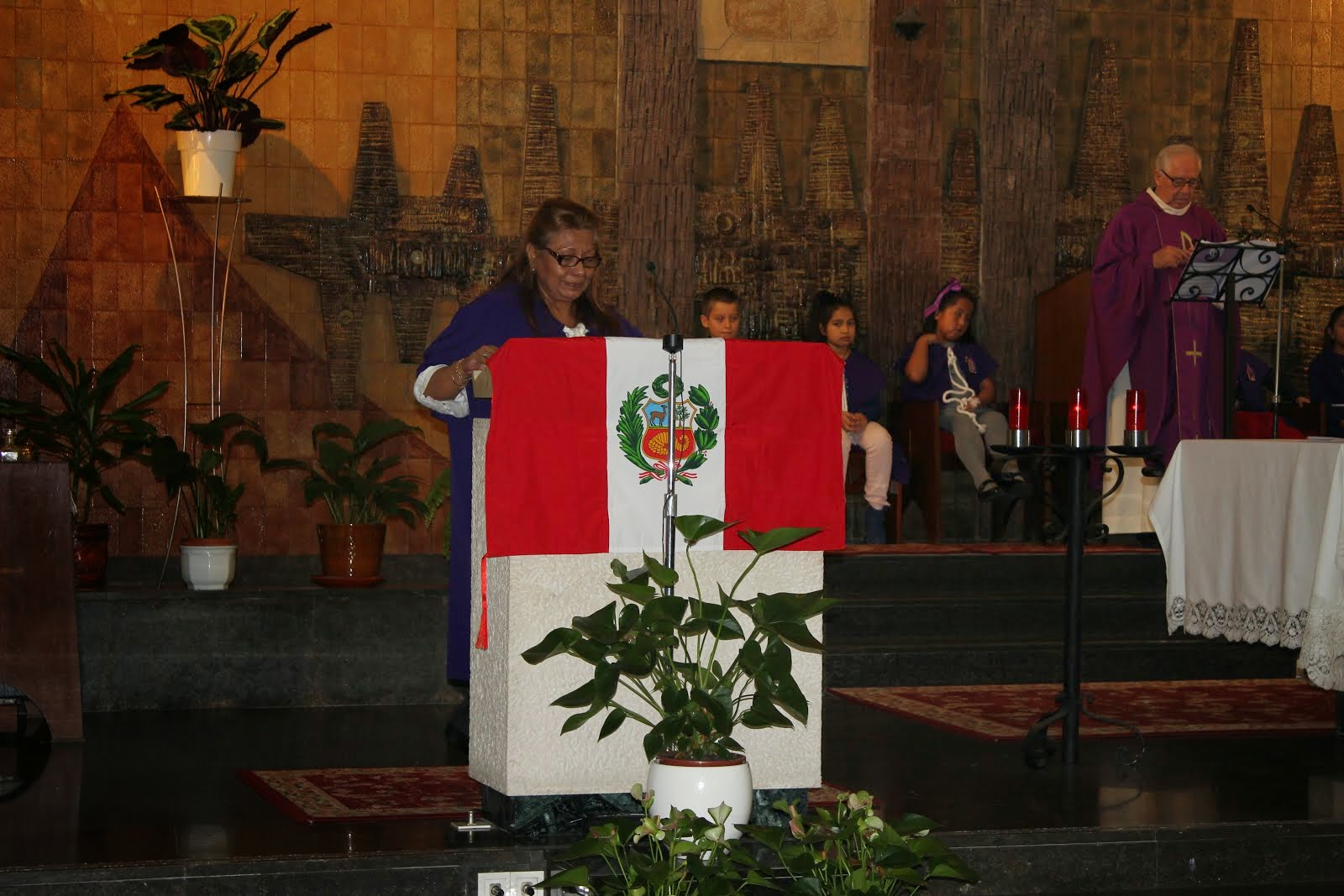 Dña Luisi Motta en la Eucaristia 2014