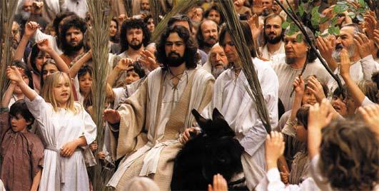 Jesus On Donkey Palm Sunday