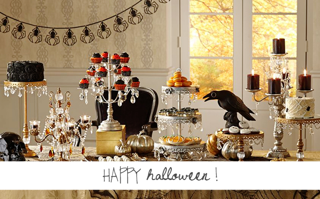 Happy #Halloween! Halloween entertaining ideas and tabletop styling by Lesley Myrick for 55 Downing Street.