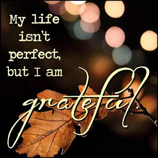 My life isn't perfect, but I am Grateful.