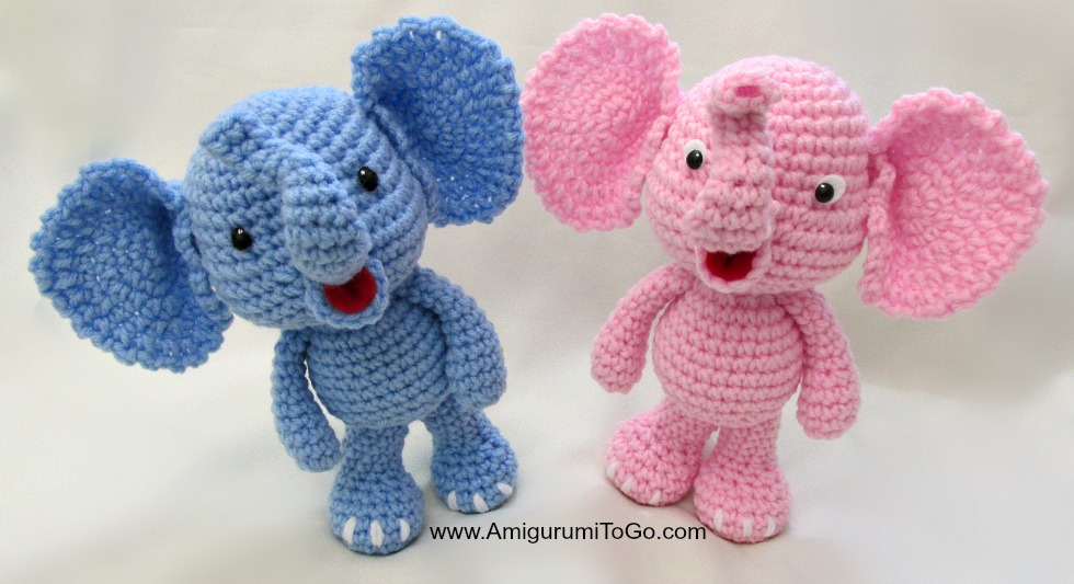 All Free Amigurumi Patterns : Little Bigfoot Elephant Video and Pattern ~ Amigurumi To Go