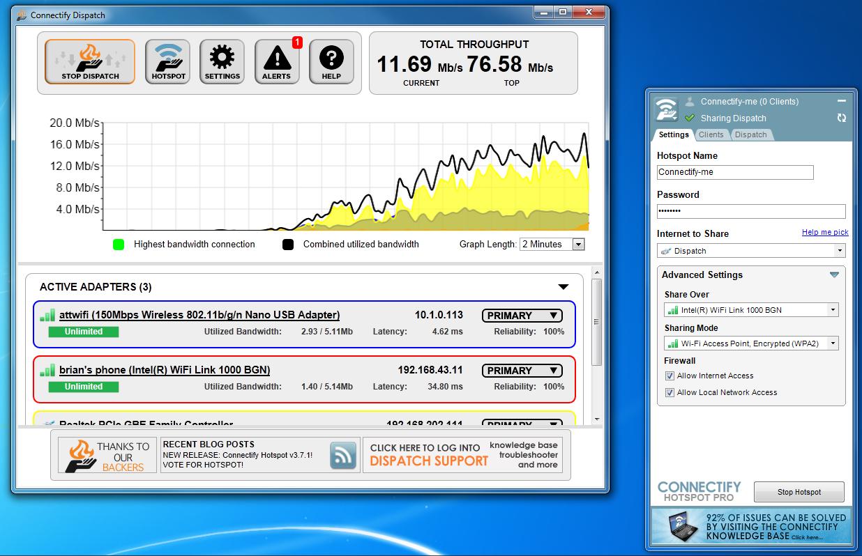 Cara Mempercepat Download di IDM dengan Connectify Dispatch